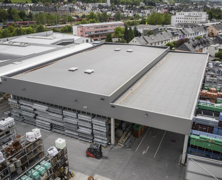 Neubau Lager- und Transportüberdachung in Trier