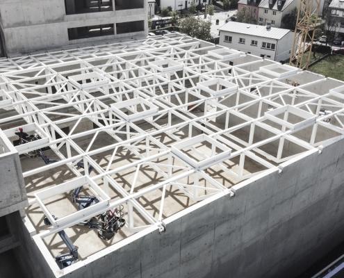 Neubau einer Sporthalle der Gemeinde Bertrange in Luxemburg